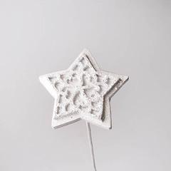 Войлок звезда серебро 1 шт., арт. 1030