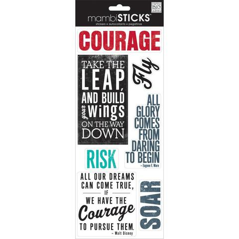 Стикеры mambi Specialty Stickers Courage 13х30 см