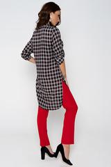 Хит сезона! Отличный летний вариант. Рубашка удлиненная с разрезами. Ворот на стойке. Рукав до локтя с патой. (Длинны: 44-93см; 46-94см; 48-95см; 50-96см; 52-98см)