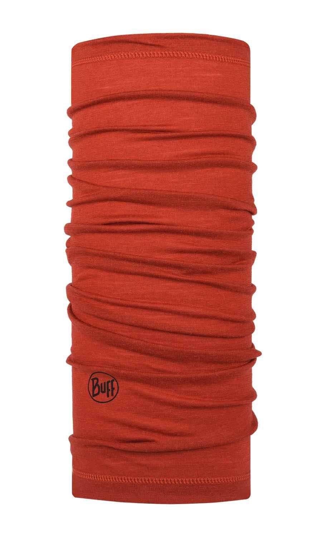 Тонкий шерстяной шарф-труба Buff Wool lightweight Solid Rusty