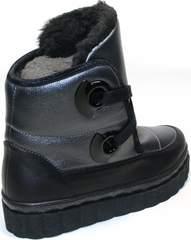 Женские ботинки зимние на шнурках Kluchini 13047