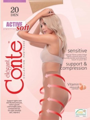 Conte Active Soft Колготки женские 20d, p.2 bronz