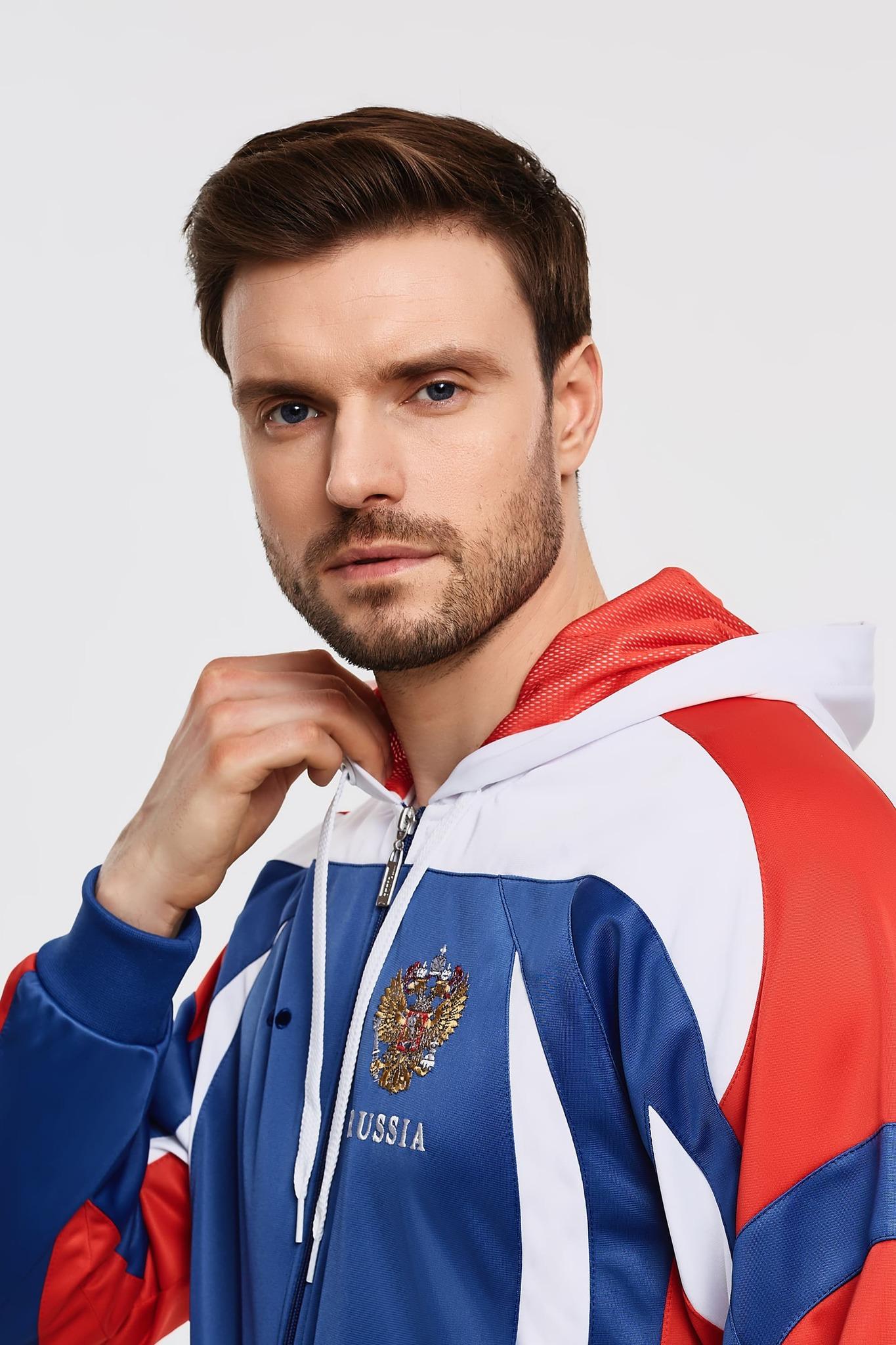 Спортивный костюм Россия с капюшоном