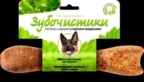 ЗУБОЧИСТИКИ Лакомство жевательное для собак крупных пород со вкусом морских водорослей
