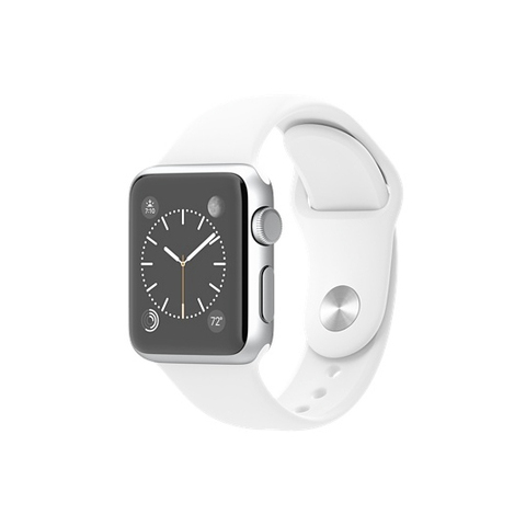 Apple Watch Sport Silver Aluminum Case with White Sport Band