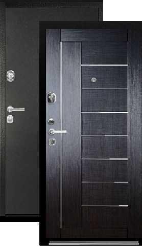 Дверь входная Falko Конструктор М-9, 2 замка, 2 мм  металл, (чёрный шёлк+венге кантри)