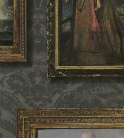 Обои Andrew Martin Museum Gallery Charcoal (комплект из 3 рулонов), интернет магазин Волео