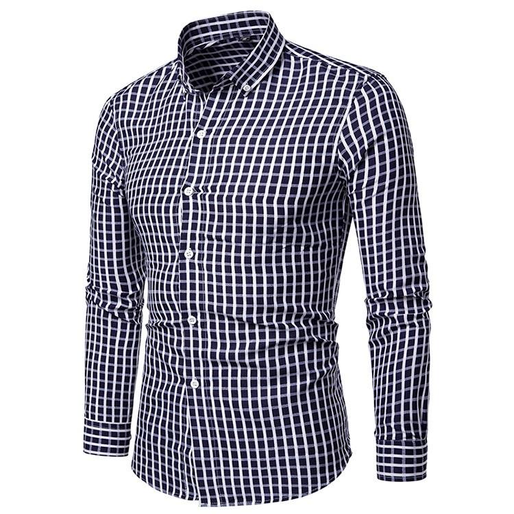 Мужская рубашка в клетку Slim Fit 141.jpg
