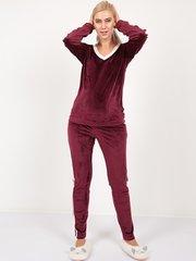 Евромама. Костюм плюшевый брюки и джемпер ЕМ 1533, бордо размер 50
