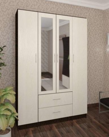 Шкаф 4-х дверный ГАМБУРГ