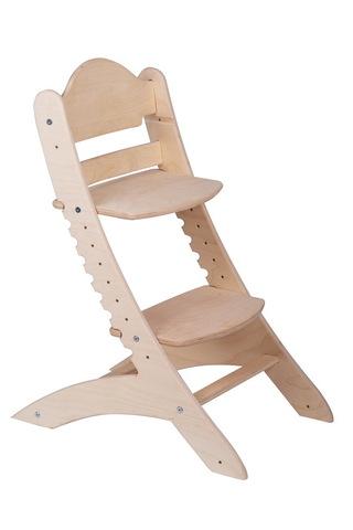 Детский растущий стул Два кота М1 Шлифованный