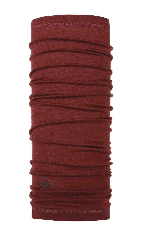 Тонкий шерстяной шарф-труба Buff Wool lightweight Solid Wine