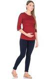 Лонгслив для беременных и кормящих 09907 персиковый