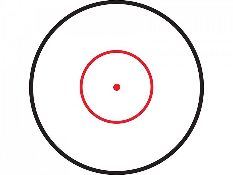 ПРИЦЕЛ LEAPERS ACCUSHOT TACTICAL 1-4.5X28, 30ММ, ГРАВ.CIRCLE DOT,, ПОДСВ.IE36, КОЛЬЦА, 476ГР