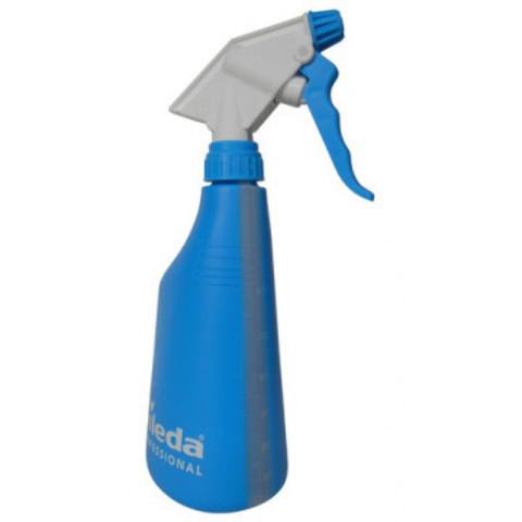Флакон БЕЗ СРЕДСТВА  спрей-бутылочка с мерн шкалой с распылит синяя