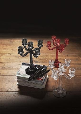 Ravello Candleholder 5-Armed Red
