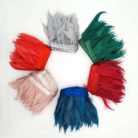 Тесьма из перьев гуся , h -около 10 см (выбрать цвет)