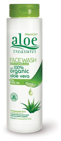 Очищающий гель для лица Алое ALOE TREASURES от Pharmaid