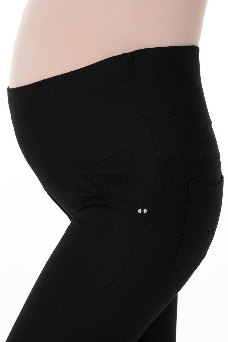 Утепленные брюки для беременных 07953 чёрный