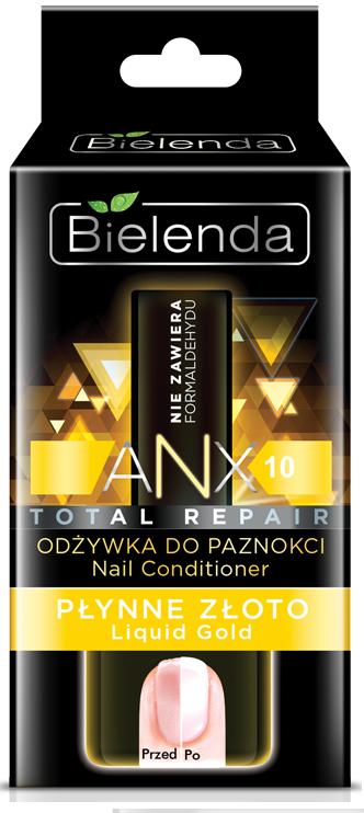 BIELENDA ANX Total Repair Кондиционер для ногтей Жидкое золото 11мл