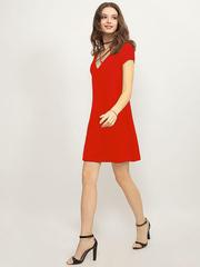 GDR011119 Платье женское. красное