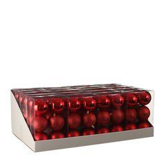 Набор шаров 6шт 8см House of Seasons красный