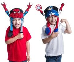 Супергерои шапка детская живая