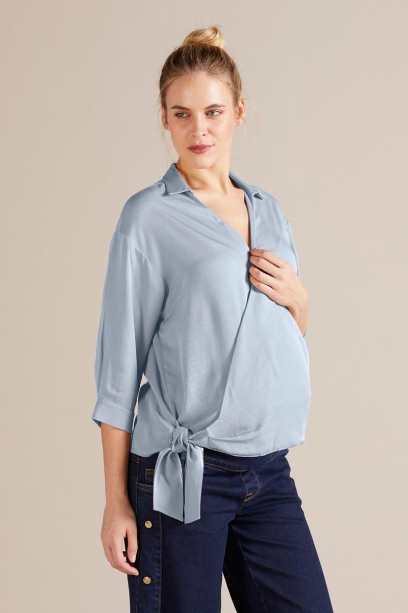 Блузка 09731 голубой