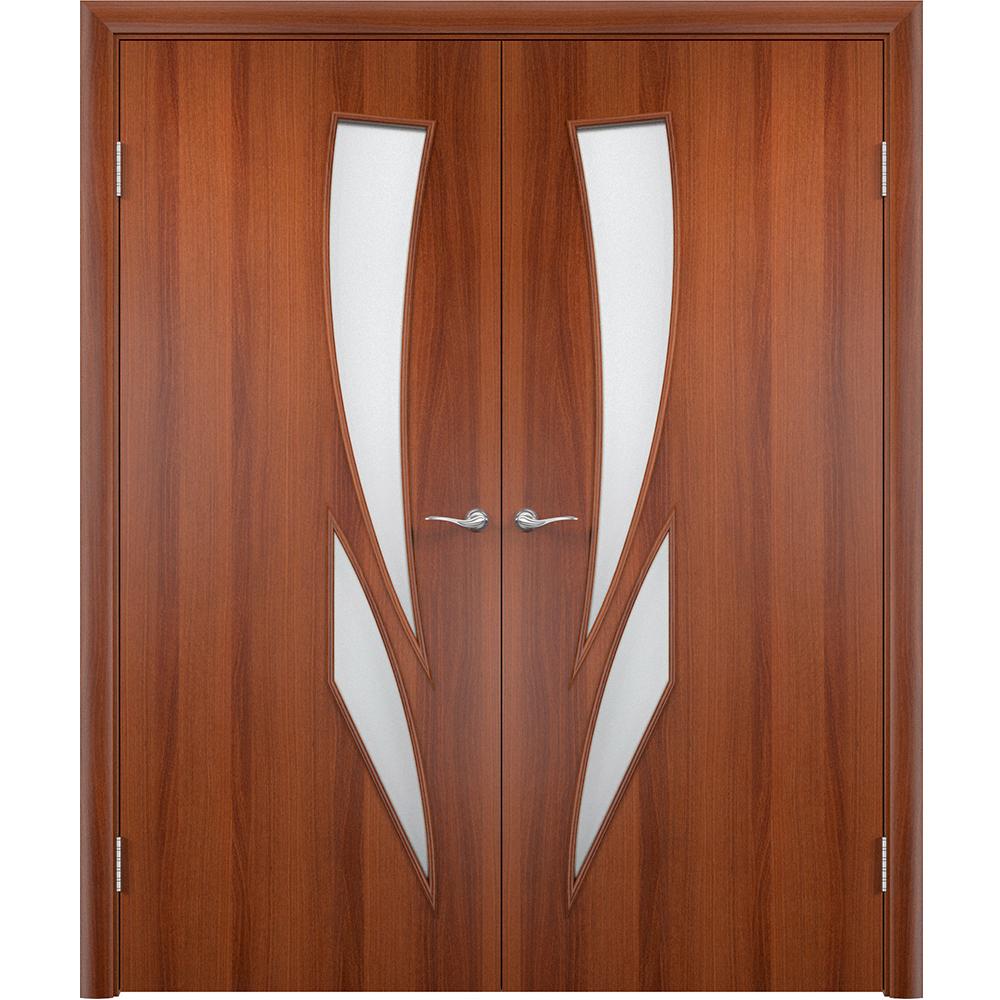 Двустворчатые двери Стрелиция итальянский орех распашная двустворчатая со стеклом streliciya-por-italia-dvertsov.jpg