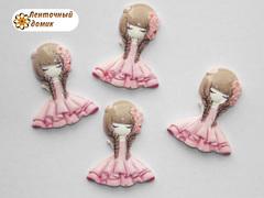 Декор Кукла с косичками в розовом наряде (4)
