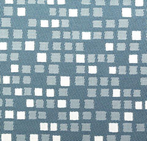 Портьерная ткань двухсторонний жаккард Домино бирюзовый