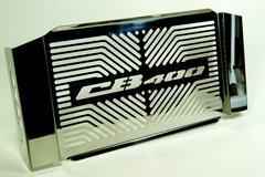 Защита радиатора для мотоцикла Honda CB400 с логотипом, из оцинкованной стали
