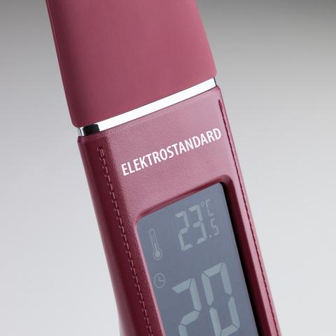 Настольная лампа с часами Elara бордовый (TL90220)