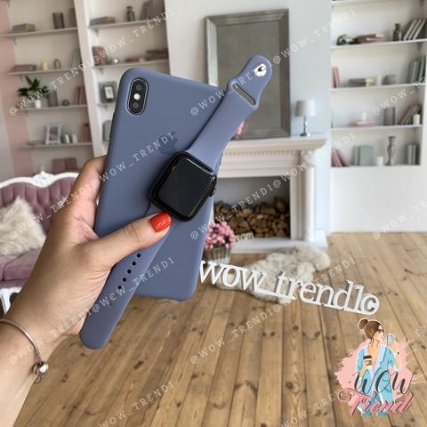 Чехол iPhone XS Max Silicone Case /lavender grey/ серая лаванда original quality