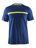 Мужская футболка для бега Craft Joy Run 1903188-2381 темно-синяя | Интернет-магазин Five-sport