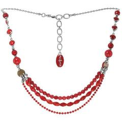Колье Nature Bijoux RUBY С бусинами в три ряда