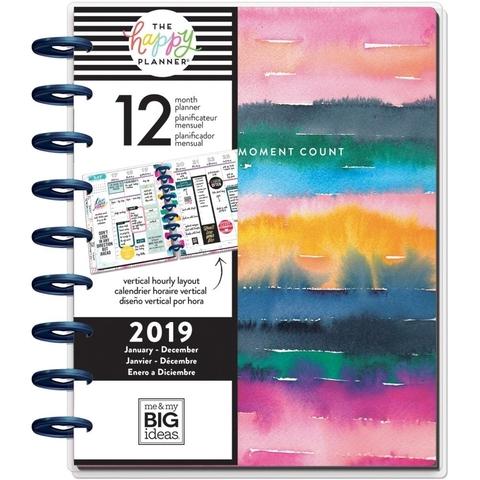 Ежедневник 2019 Classic Happy Planner®-  19,5х24,5см- Watercolor Rainbow