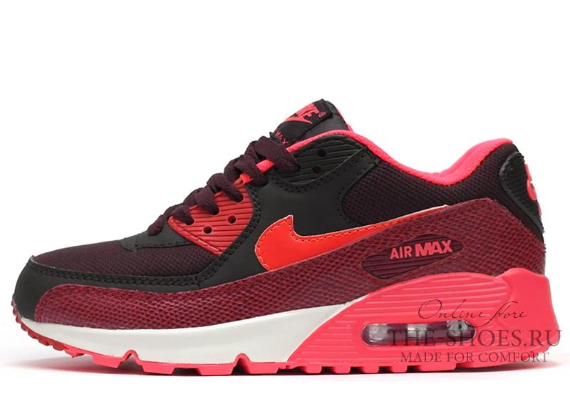 b8798c400b4e ... Кроссовки Женские Nike Air Max 90 Essential Black White Red Coral.  Артикул