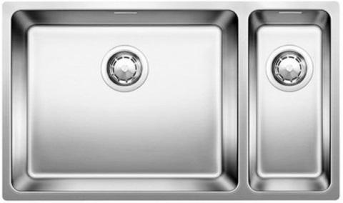 Кухонная мойка Blanco ANDANO 500/180-U, левая, без клапана-автомата, нержавеющая сталь