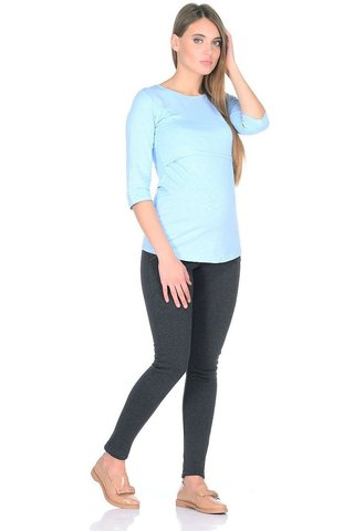 Лонгслив для беременных и кормящих 09907 голубой
