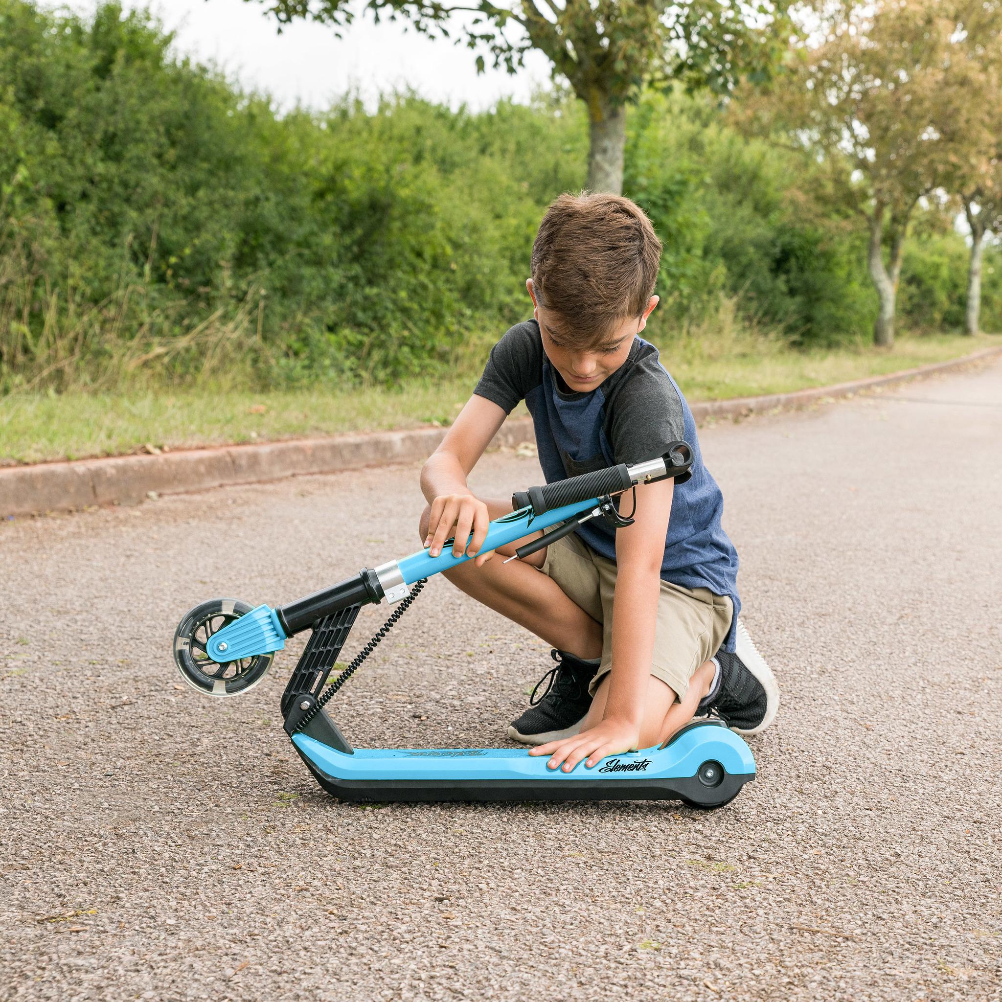 Самокат  Xootz Kids Elements, светящиеся колеса, синий