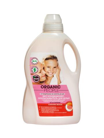 Organic PEOPLE, Эко кондиционер-ополаскиватель для белья SUNSHINE REGGAE, 1,5л
