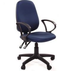 Кресло VT_EChair-318 AL ткань синяя, пластик
