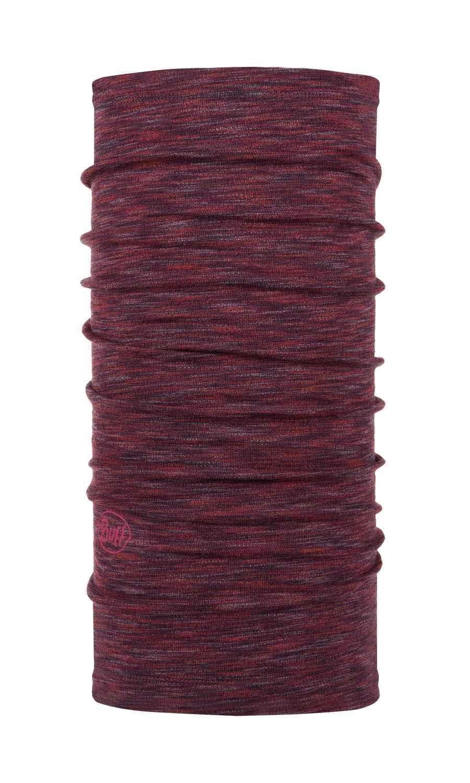 Шерстяной шарф-труба Buff Wool midweight Shale Grey Multi Stripes