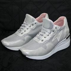 Кроссовки сникерсы женские Topas 4C-8045 Silver.