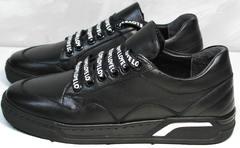 Кроссовки черные кожаные женские Rifelini by Rovigo 121-1 All Black