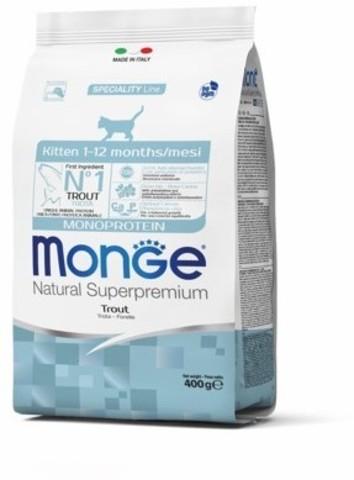 Monge Cat Monoprotein корм для котят (с форелью) 400г