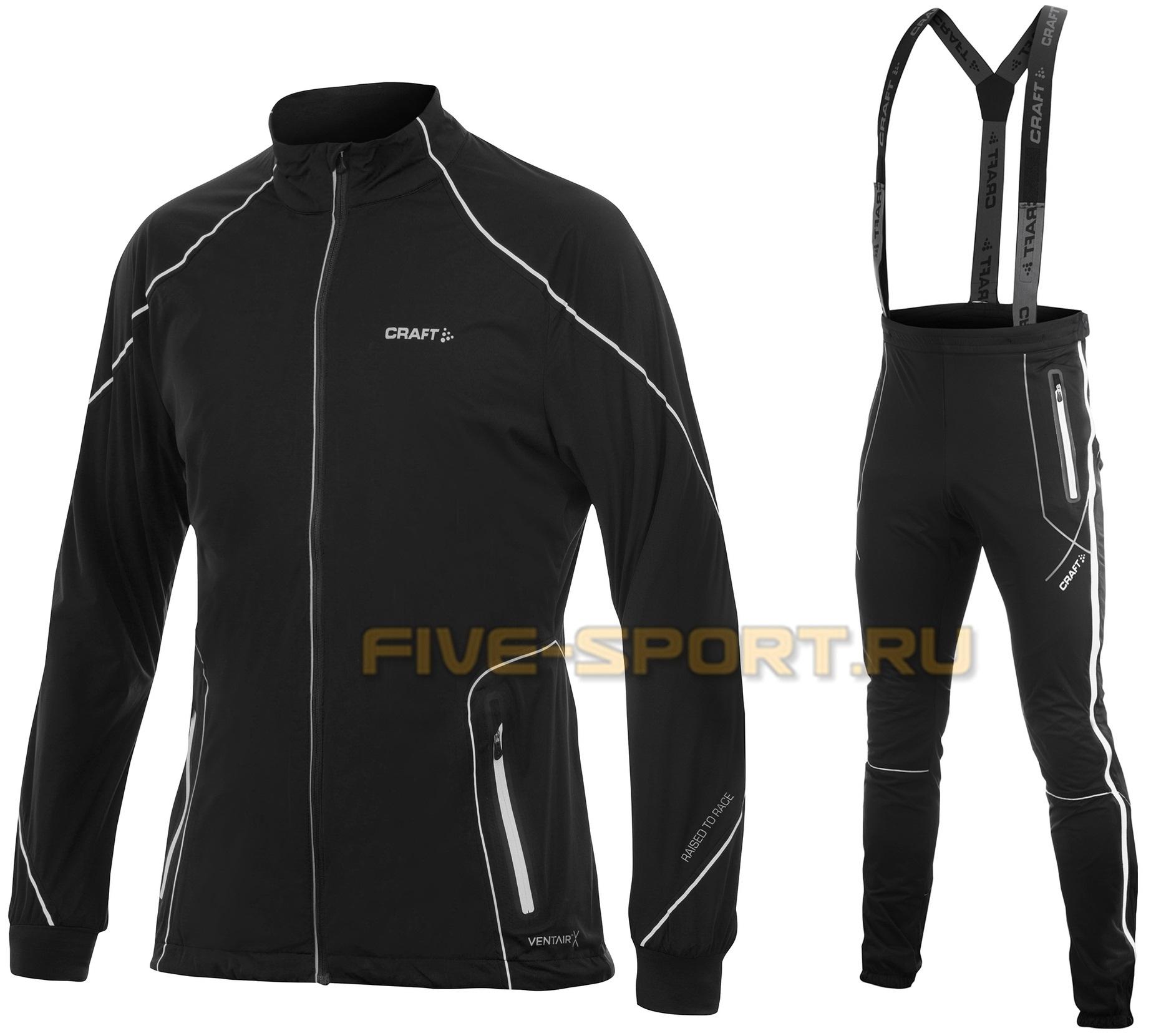 Лыжный костюм Craft High Function ZIP черный мужской