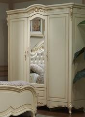 Шкаф Милано 3-дверный с зеркалом (8803-B MK-1836-IV) Слоновая кость