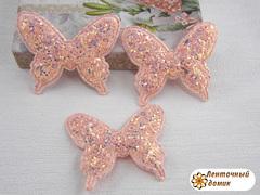 Мягкий декор Бабочки конфетные персиковые